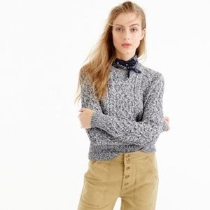 NWT J Crew Marled Cable Crewneck Sweater